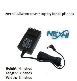 Nexhi Allworx Power Supply for All Allworx Phones Models, Replacement Power Supply