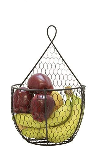 J Miles CO It's Useful. Hanging Display Storage Baskets - Wall Hanging Units for Flowers, Fruits and Veggies, Decorations, and More