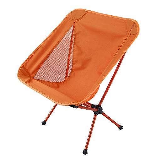 ZFH Silla de Camping Portátil Plegable Ultraligero Al Aire Libre Diseño cómodo para mochileros compactos Ligero Viaje Picnic Senderismo Playa Pesca Esencial,Orange