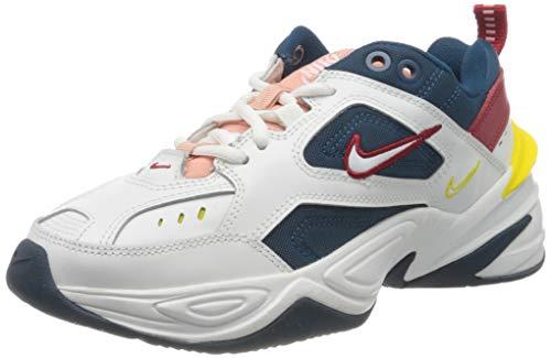 Nike Damen M2k Tekno Leichtathletikschuhe, Mehrfarbig (Blue Force/Summit White/Chrome Yellow 402), 40 EU