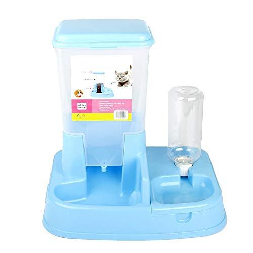 ETH Fuentes de Resina para Mascotas Fuentes automáticas de alimentación Dispositivo de alimentación Un tazón de Comida para Gatos Cuenco de Gato Cuenco de Perro Perro Olla Azul Durable
