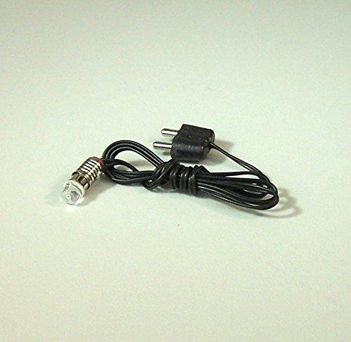 Krippenbau-Lewen LED Lämpchen mit Kabel und Stecker weiß, Fassung E5,5. Für 3,5V Trafo