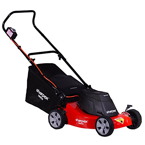 Sharpex Electric Lawn Mower | Folding Handle and Detachable Collection Box | Adjustable Height Mower (16 Inch Cutting Blade, Single Phace 2.5 HP mottor)