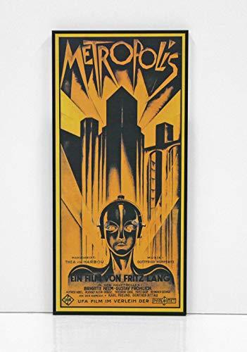 BaikalGallery Cartel Enmarcado Metropolis (1927) TAMAÑO 30x65CM- (F1171) Montado en Tablero Adhesivo rígido y Ligero Foam - Moldura de Aluminio Negro Mate - Acabado Mate (Sin Cristal)