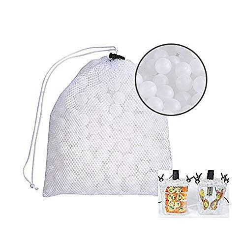 DealMux Bolas de cocción al vacío sin BPA 20 Mm 250 bolas con bolsa de secado de malla para Anova Joule Cooker Baño de agua Cocción y recipientes al vacío