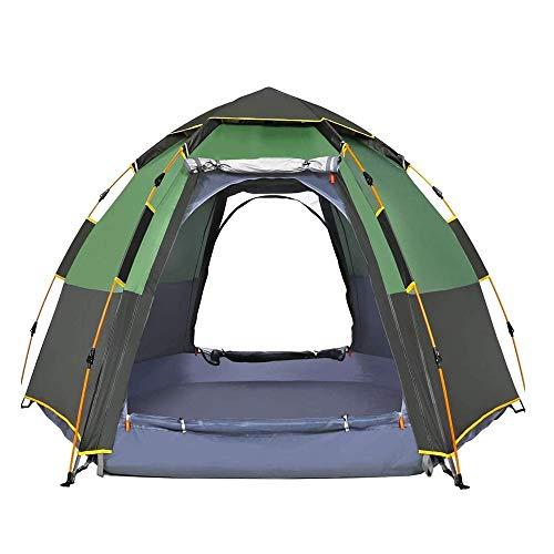 Impermeable tienda de campaña inmediata - 5-8 Configuración persona Easy Quick Dome tiendas de campaña familiares for acampar, Doble techo se puede utilizar como surge la cortina de Sun ( Color : B )