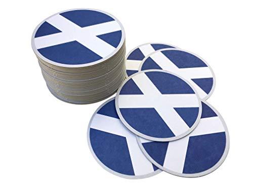 Recreatio | Bierdeckel Schottland | 50 R&e Glas Untersetzer aus Pappe | Doppelseitig | Schottland Flagge | Schottischer Dekoration Style | Schottland Deko | Schottische Deko | Schottland Geschenke