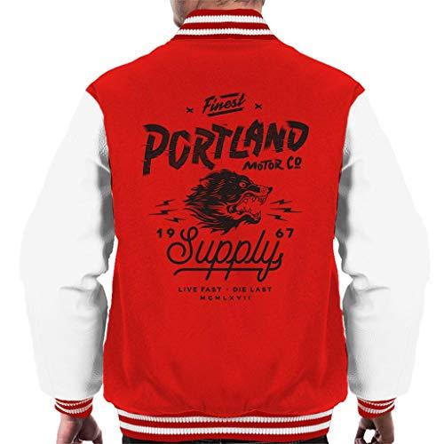 Verdeel & Verover Portland Motor Co Varsity Jacket voor heren