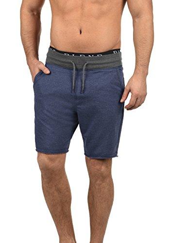 Blend Julio Herren Sweatshorts Kurze Hose Sport- Shorts aus hochwertiger Baumwollmischung Meliert, Größe:XXL, Farbe:Mood Indigo Blue (74648)
