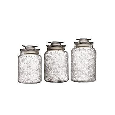 Style Setter 203192-GB Canister Set, Clear
