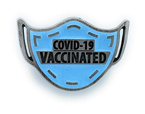 COVID Vaccine Pin - I've Been COVID Vaccinated Pin - Blue Mask Metal Lapel Pin - COVID-19 Vaccinated Pin - Coronavirus Vaccine Pin - Buy 2 or more Pinning Me single pins get 25% off your order