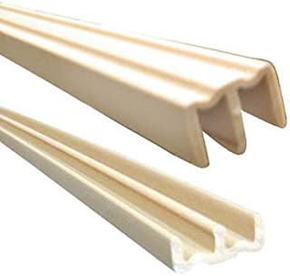 Knape & Vogt 1/4x48 Plastic Track Set Tan
