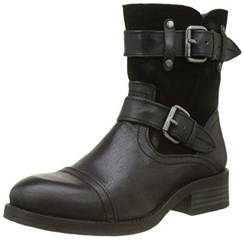 Buffalo London Damen ES 30933 JAMATA Suede Biker Boots, Schwarz (Preto 01), 40 EU