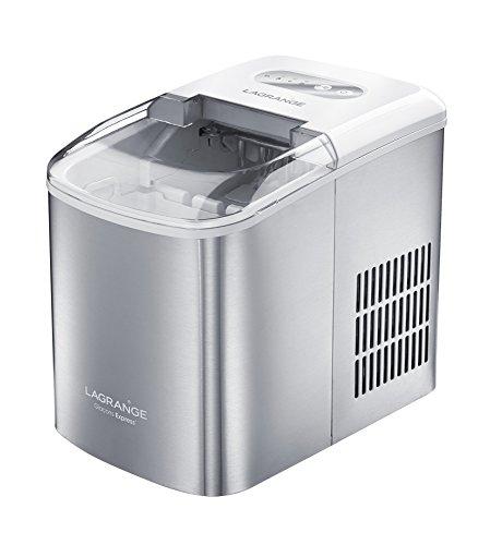 Lagrange 489002 Express - Macchina per ghiaccio, in acciaio INOX, 37,3 x 24,4 x 31,5 cm