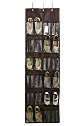 Over the door organizer for storing shoes. One of the best shoe hack