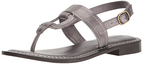 Bernardo Women's Tegan Flat Sandal, Grey Metal, 5.5 M US