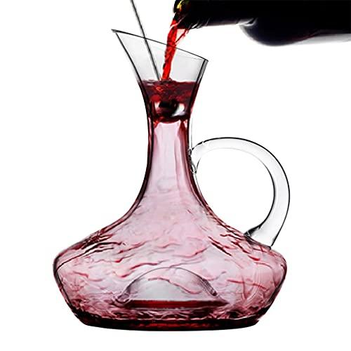 DECANTER Per Vino Veloce per La Casa Creativo con Manico Dispenser per Vino in Cristallo Adatto A Famiglie, Hotel, Ristoranti (Color : Clear, Size : 19.5 * 24.5cm)