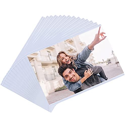 Marco de Fotos con Iman en Blanco - Pack de 14 Marco Magnetico Transparente para Refrigerador con Ranura para Foto de 10,7x16,5cm - Iman Portafoto Familiar, Arte, Trabajo Diversión para Niños