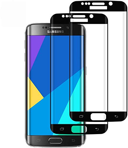 DOSMUNG Verre Trempé pour Samsung Galaxy S7 Edge, [Lot de 2] Film de Protection d'Écran pour Samsung Galaxy S7 Edge 3D Couverture Complète/Haut Définition/Dureté 9H/Anti-Rayures Film Protecteur Vitre