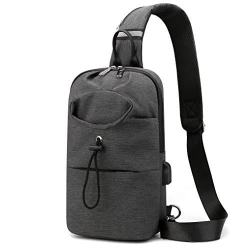 ADORENCE Crossbody Sling Bag for Women - Lightweight & Water Resistant Shoulder Bag for Men with Water Bottle Holder - Black