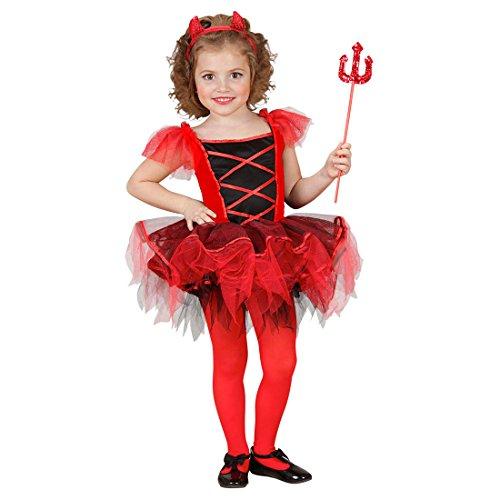 NET TOYS Enfants Diable déguisement Ballerine déguisement de Diable Rouge XS 110 cm 3-4 Ans déguisement pour Enfant Halloween Costume de Diable Tutu Robe de Diable