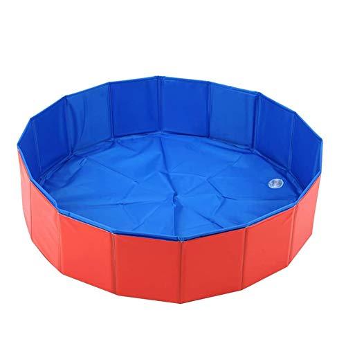 Hond Zwembad, Plonsbad Voor Huisdieren En Kinderen, Opvouwbare Hond Zwembad Zwemmen Tub, Honden Paddling Bathing Pool Voor Garden Patio Badkamer,Red,M