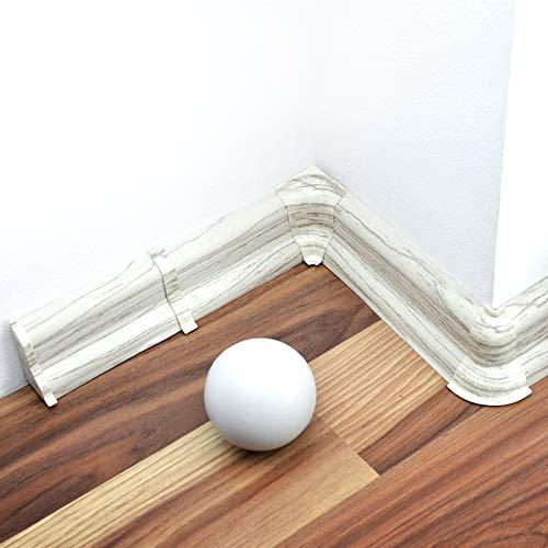 [DQ-PP] Innenecke 52mm PVC Kiefer gebleicht Laminatleisten Fussleisten aus Kunststoff PVC Laminat Dekore Fußleisten