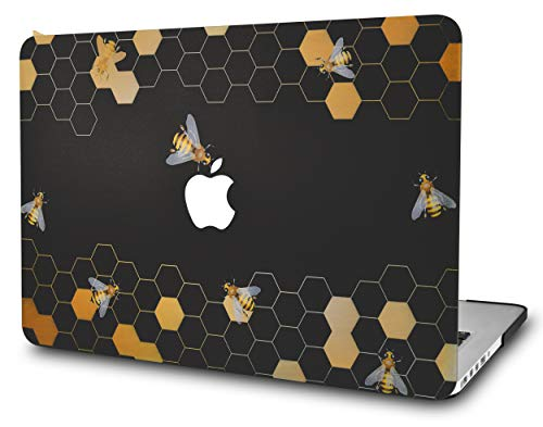 KECC Laptop Case for MacBook Air 13' Plastic Case Hard Shell Cover A1466/A1369 (Black Bees)