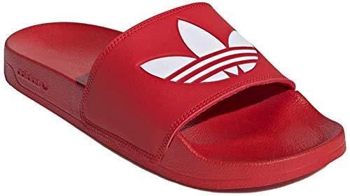 Adidas Trefoil Adiletten Badelatschen (40.5 EU, red/White)