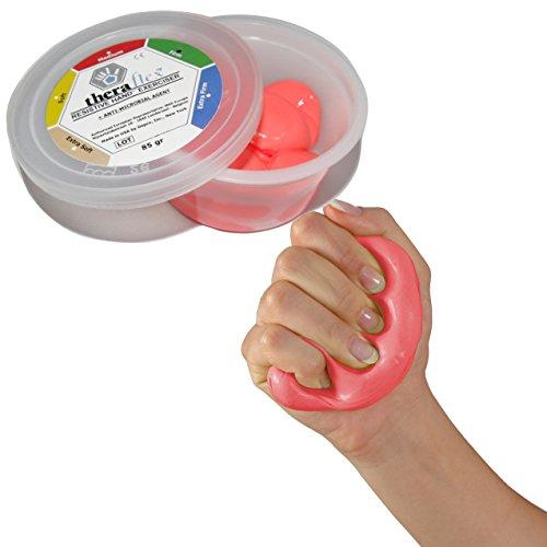 MSD - Masilla Theraflex, comprimible, para ejercicios con las manos, de color rojo, media resistencia, no tóxica; para el tratamiento de la artritis