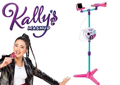 Smoby - Kally's Mashup - Microphone sur Pied - Réglable en Hauteur - 4 Chansons + 4 Mélodies - Lumières Colorées - 520124
