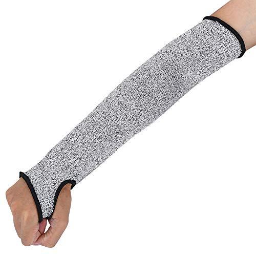 Manga de protección para brazo, protector de brazo anticorte, unisex, protección de nivel 5, protección contra cortes (1 par)