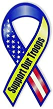US Flag Store Support Our Troops Magnet, Red/White/Blue by Online Stores Inc.
