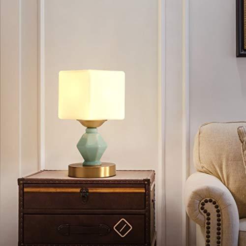 SPNEC Luna sombra iluminación nórdico dormitorio lámpara de mesa de cerámica lámpara de noche sencilla moderna moderna sala de mesa lámpara protección ojo escritorio noche lámpara de lectura