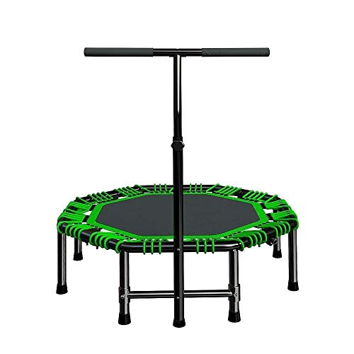 """C-Xka Trampoline, 48"""" Mini Trampoline for Adjustable Handrail, Fitness Rebounder Trampoline Indoor for Adults, Best Home Exercise - Workout Cardio Fitness Trainer, Silent and Safe Bungee Rope System"""