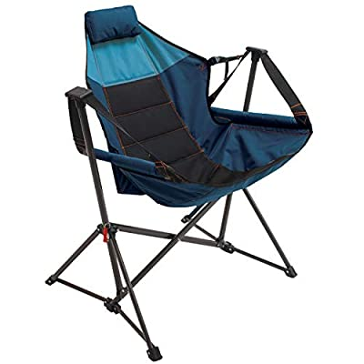 RIO Gear Outdoor Foldable Hammock Lounger - Blue Sky/Navy