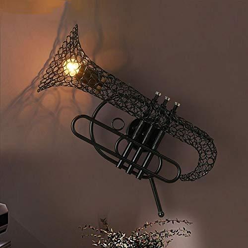 Moddeny Schmiedeeisen Restaurant Wandleuchte Amerikaner Edison Retro Steampunk Saxophon Industriewandleuchte Bar Cafe Loft Schlafzimmer Arbeitszimmer Aisle Dekorative Wandleuchte Laterne