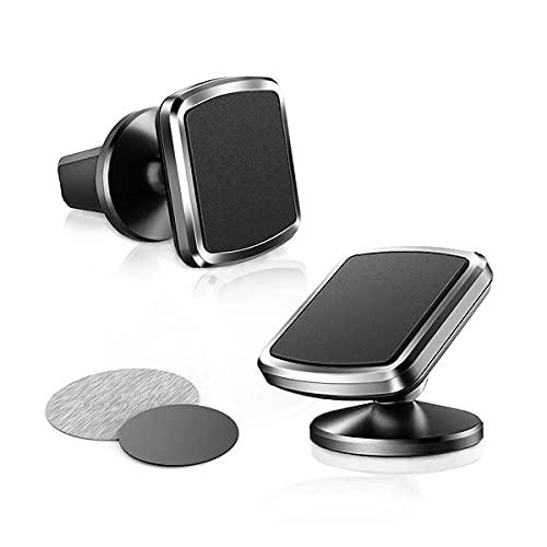 MAFANG Soporte Magnético Para Teléfono Móvil Para Coche, Ajustable 360°, Soporte Magnético Para Salpicadero, Compatible Con La Mayoría De Los Teléfonos Inteligentes, 2 Piezas