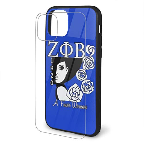 Juhucc Zeta Phi Beta Phone Case Personalized Design Printed Shockproof iPhone TPU Glass Phone Case for iPhone 11