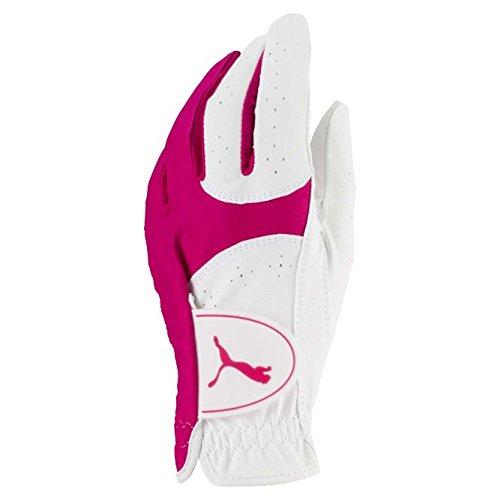 Puma Golf 2018 Women's Soft Lite Glove (Bright White-Beetroot Purple, Small, Left Hand)
