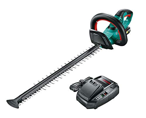 Bosch AHS 55-20 LI Cordless Hedgecutter, 550 mm blade length, 20 mm tooth opening (1 battery pack)