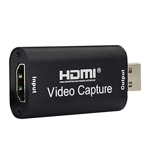 Kooshy Tarjeta de Captura de Video HDMI Tarjeta de Captura de Video de Audio 1080P para transmisión de Video en Tiempo Real, grabación de Video, videoconferencia