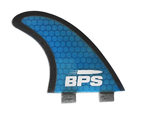 BPS Tri-Fin Set Surfboard Fins Thruster FCS Style (3 Fins), Stealth Performance Core Netted Fiberglass Surfboard Fins… 4 THE COMPANY - Helping everyone to 'get out and do' is the reason Barrel Point Surf exists. Created by a Kiwi surfer and caring Dad who loves helping others get out onto and into the water, we're a Mom & Pop business that began with us building surfboards in our garage. Now we are all about helping make water sports accessible, wherever you are in the world. Say yes to barrels, not barriers. THE PRODUCT - These BPS Tri-Fin Thruster FCS Style Surfboard Fins Set can fit any surfboard, longboard, shortboard, or funboard that uses FCS style fins. Available in medium size (similar to FCS M5's) and large size (similar to FCS M7's in size) and you can choose between two colors (Blue and Green). Rest assured that these are tested and thrashed by BPS to make sure they've got what it takes and are built to last. HERE TO HELP - If you got questions or any other concerns regarding your purchase, please let us know. Keep in mind that we're just an email away and we'll be very glad to help you out!