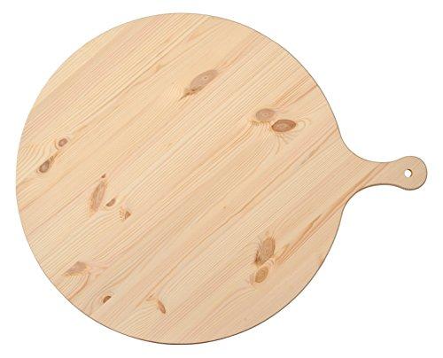 HABI Tagliere Polenta Abete con Manico cm55 Made in Italy Utensili da Cucina, Legno, Marrone