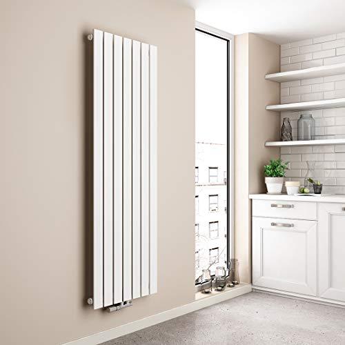 EMKE Vertikal Heizkörper Design Paneelheizkörper 1600x540mm Weiß flach Einreihig Mittelanschluss Heizung, 1045W