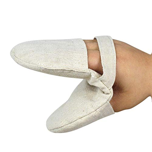 Luminiu 1 guantes de algodón aislados con dedos gruesos para horno, microondas, guantes antiquemaduras.