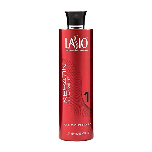 Lasio Keratin One Day Formula15.87 Fl. Oz., Infused with Amber Extract, Eliminates 100% Frizz and 90% curls, Lightweight Conditioner