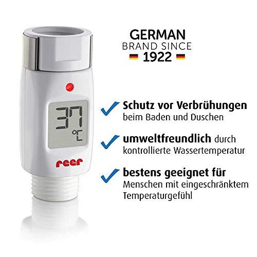 reer Digitales Bade- und Duschthermometer, Schutz vor Verbrühungen, Energie sparend
