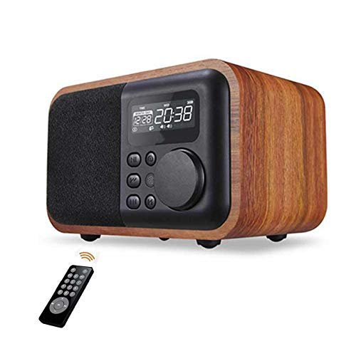 Nostalgische Houten Bluetooth Speaker met Radio wekker Display Time Remote Control Play houten subwoofer Speaker Retro Bluetooth Houten Bluetooth Speaker zhihao