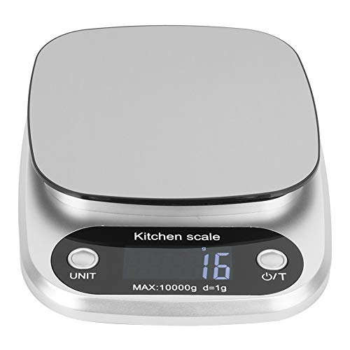 Báscula de cocina pequeña de 10 kg/1g, báscula de cocina de alta precisión, báscula de bolsillo con pantalla LCD para alimentos de peso para hornear en la cocina